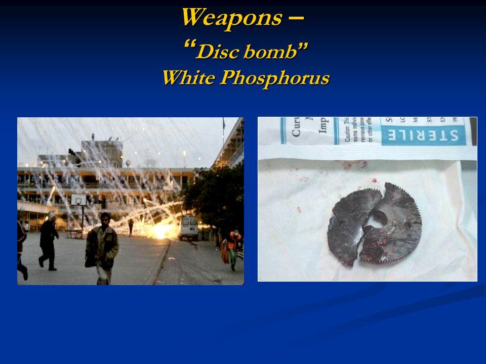 Weapons – Disc bomb White Phosphorus