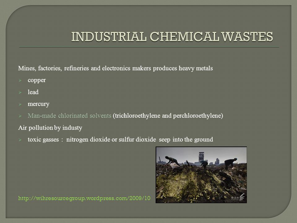 Industrial farming man-made agricultural chemicals herbicides, pesticides and antibiotics.