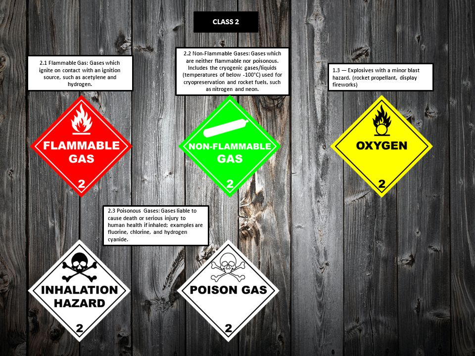2.1 Flammable Gas: Gases which ignite on contact with an ignition source, such as acetylene and hydrogen. 2.2 Non-Flammable Gases: Gases which are nei
