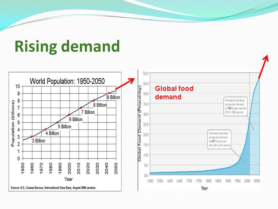 Rising demand Global food demand