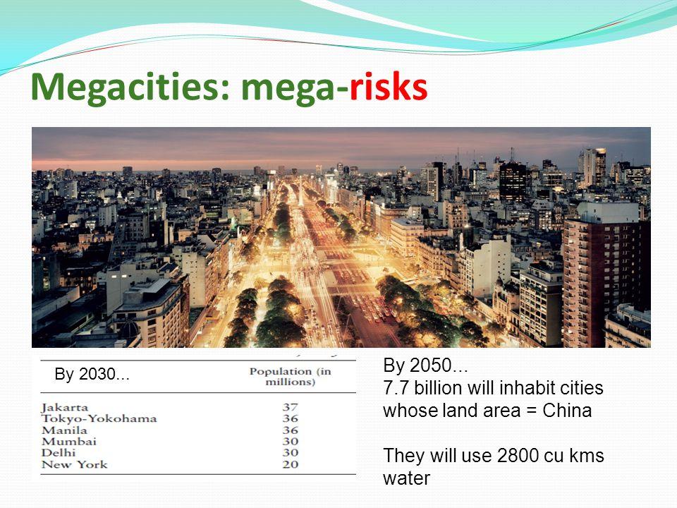 Megacities: mega-risks By 2050...