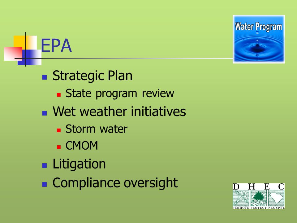 Wastewater issues Toxicity Update Old WET Law ('04) New WET Law ('05) Residual Impact (401, WET protocol)