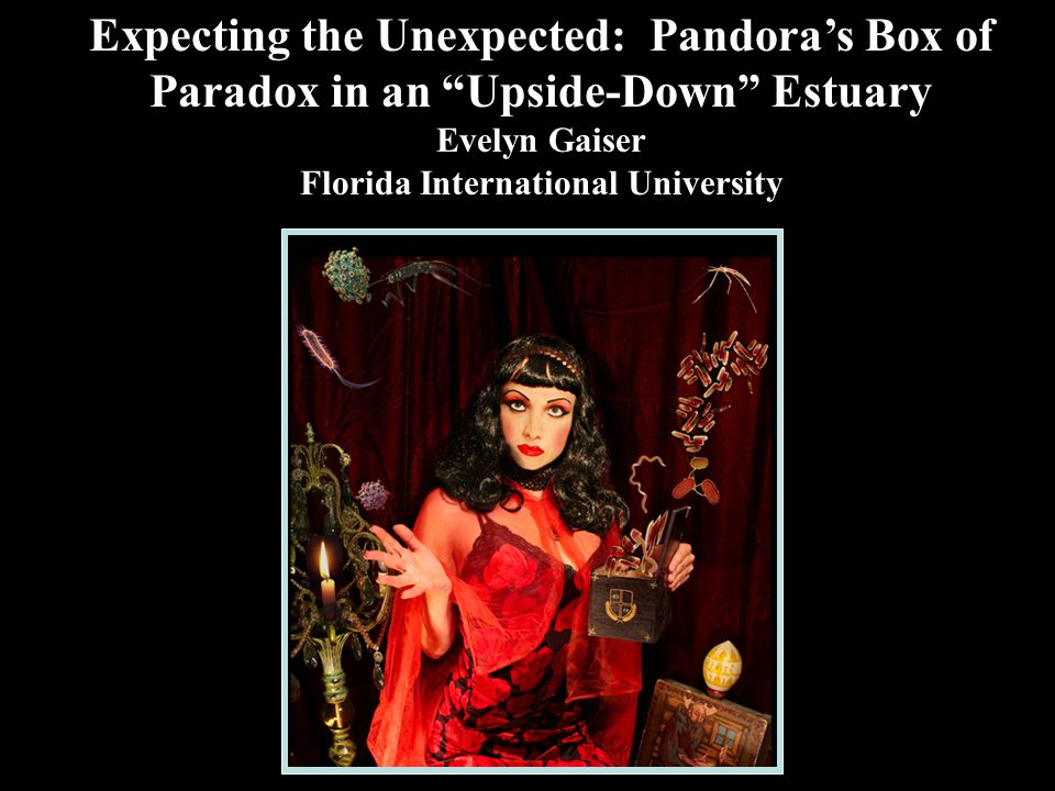 Expecting the Unexpected: Pandora's Box of Paradox in an Upside-Down Estuary Evelyn Gaiser Florida International University