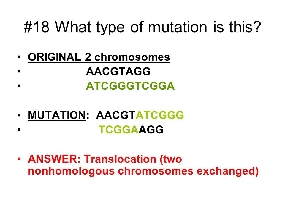 #18 What type of mutation is this.