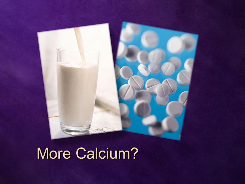 More Calcium?