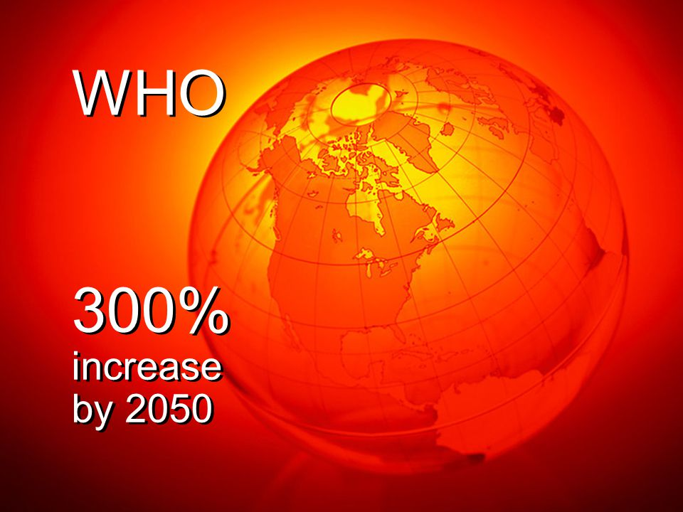 300% increase by 2050 300% increase by 2050 WHO