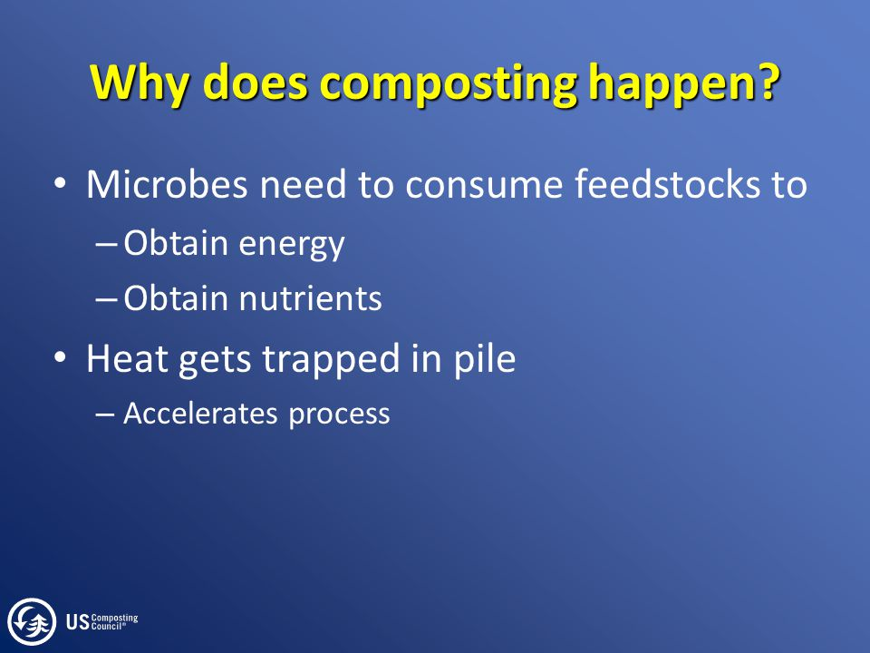 Summary Key initial parameters for thermophilic composting