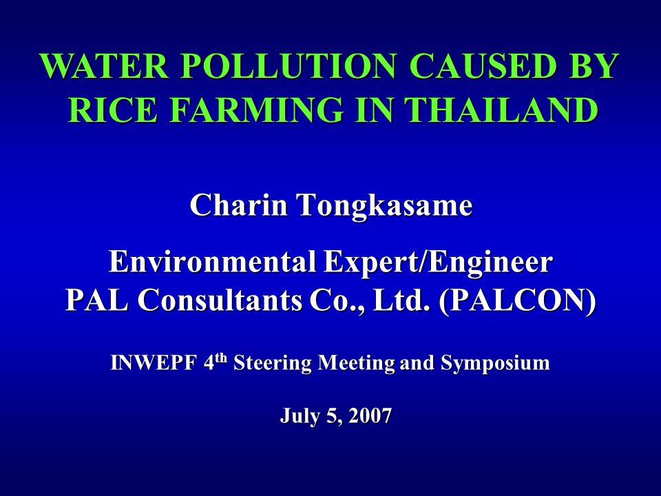 Charin Tongkasame Environmental Expert/Engineer PAL Consultants Co., Ltd.