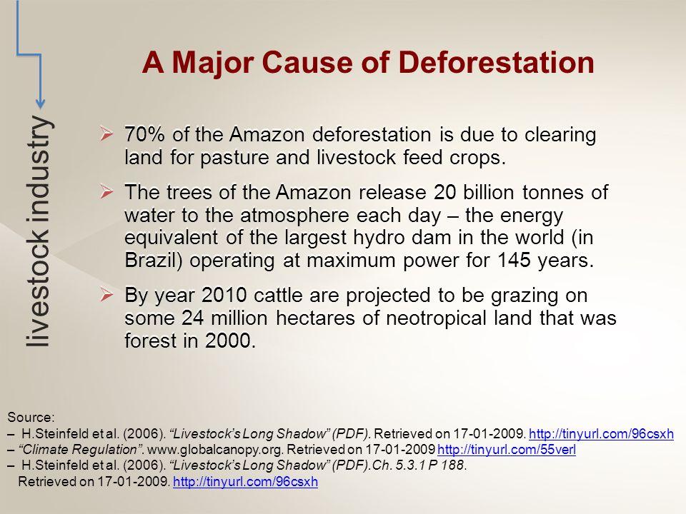  Deforestation causes 18-25% of global carbon emissions.