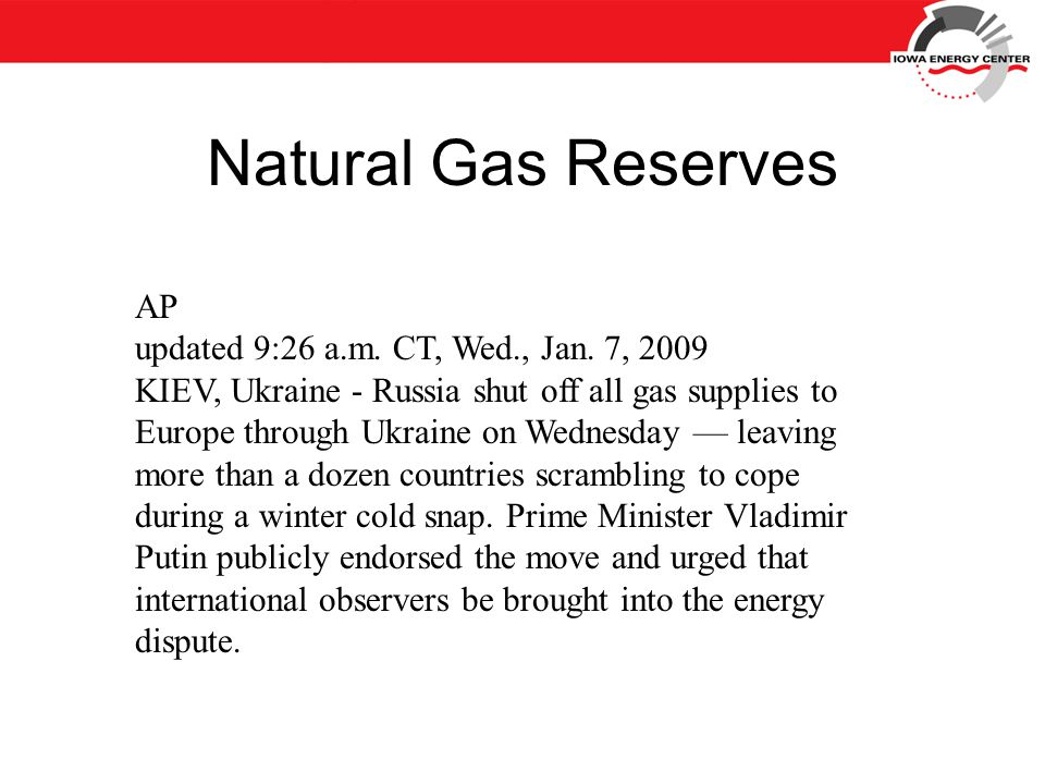 Natural Gas Reserves AP updated 9:26 a.m. CT, Wed., Jan.
