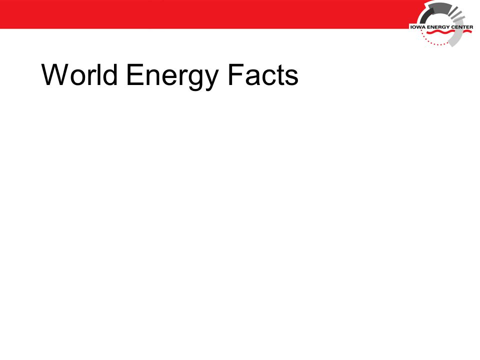 World Energy Facts