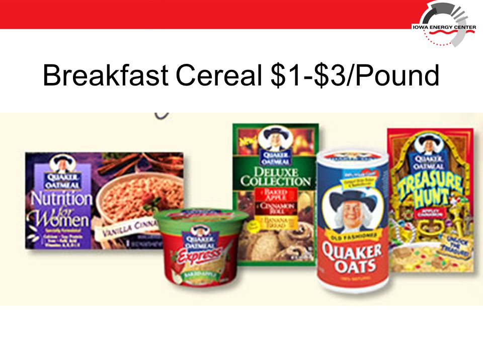 Breakfast Cereal $1-$3/Pound