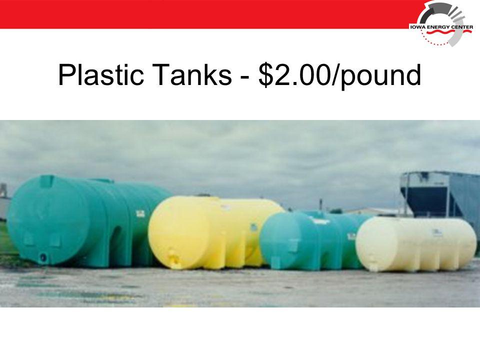 Plastic Tanks - $2.00/pound
