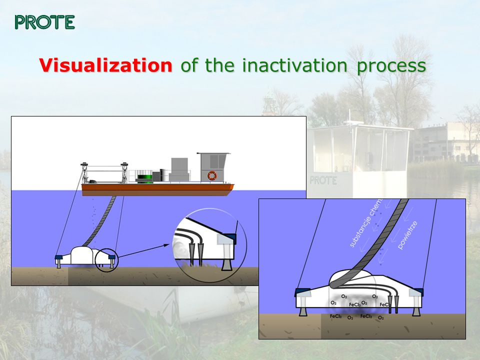 Two-unit vessel for phosphorus inactivation in bottom sediments – surface unit.
