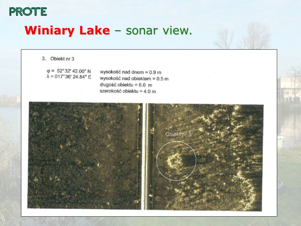 Winiary Lake – sonar view.