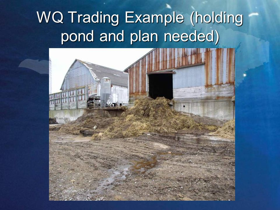 WQ Trading Example (holding pond and plan needed)
