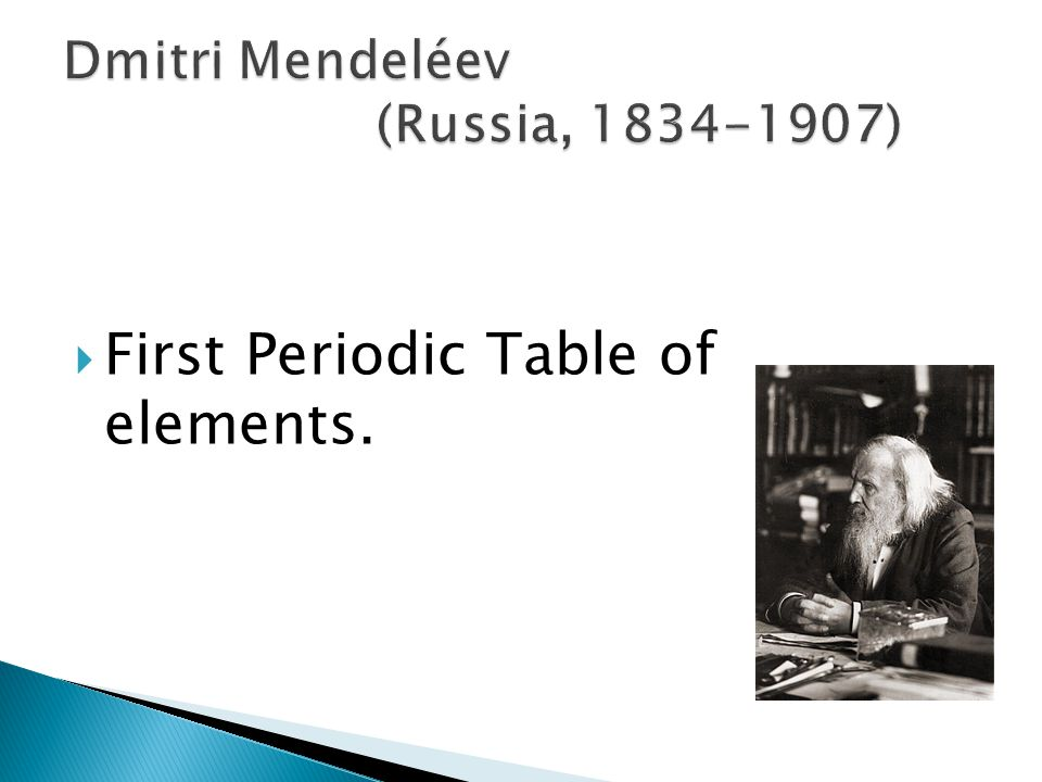  First Periodic Table of elements.