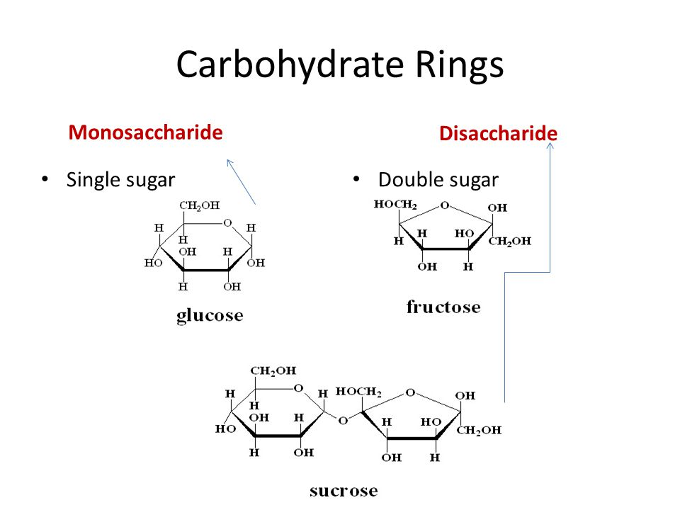 Carbohydrate Rings Monosaccharide Single sugar Disaccharide Double sugar