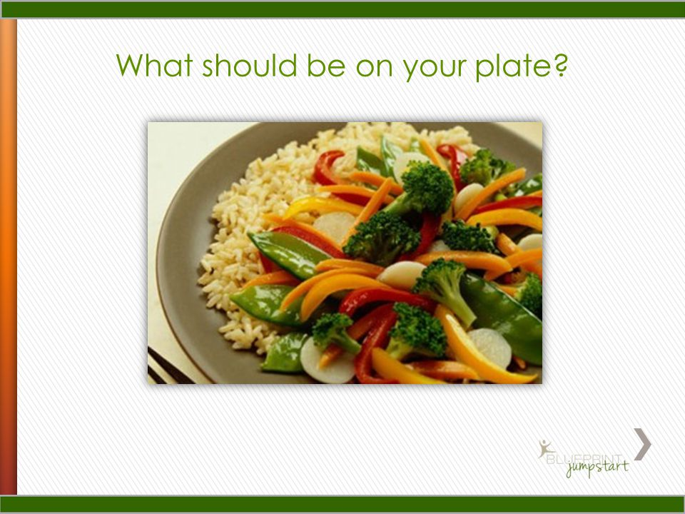 What should be on your plate