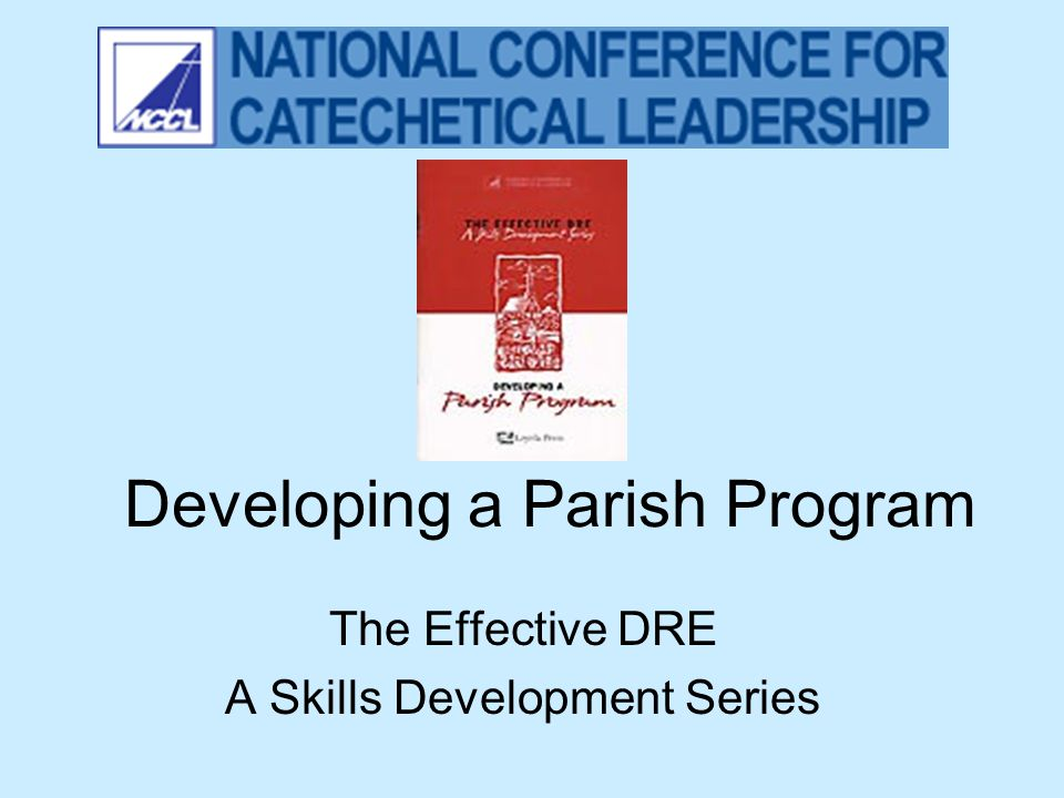 Developing a Parish Program The Effective DRE A Skills Development Series