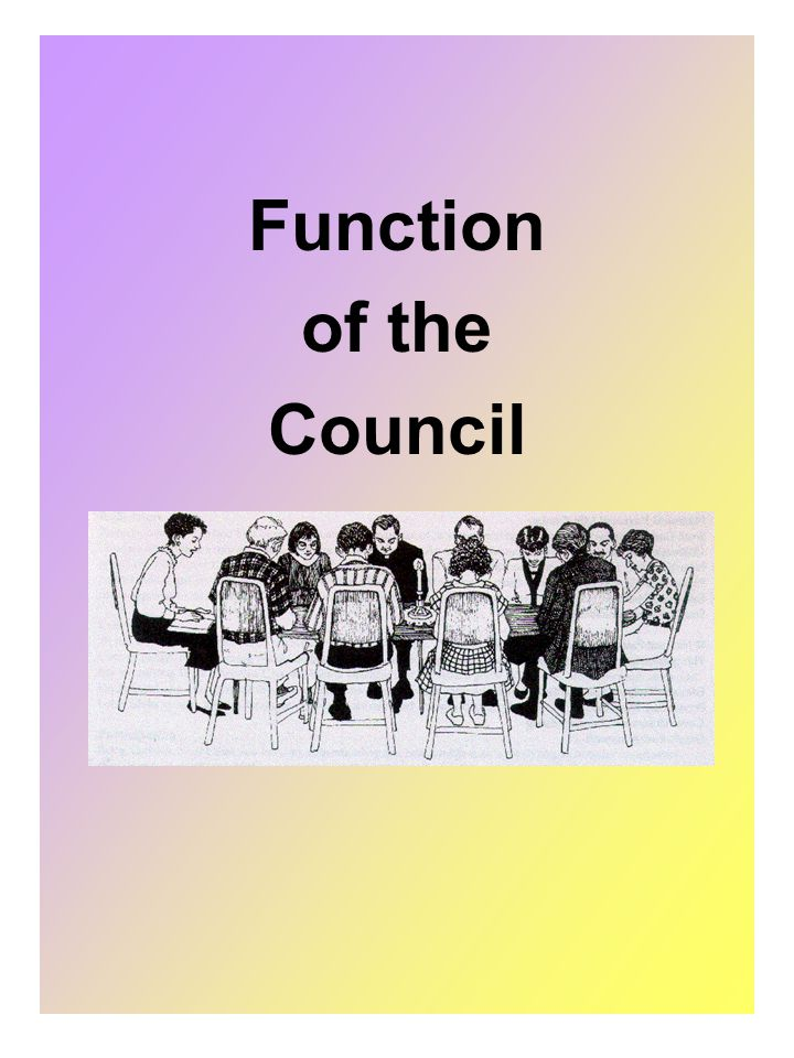 Function of the Council