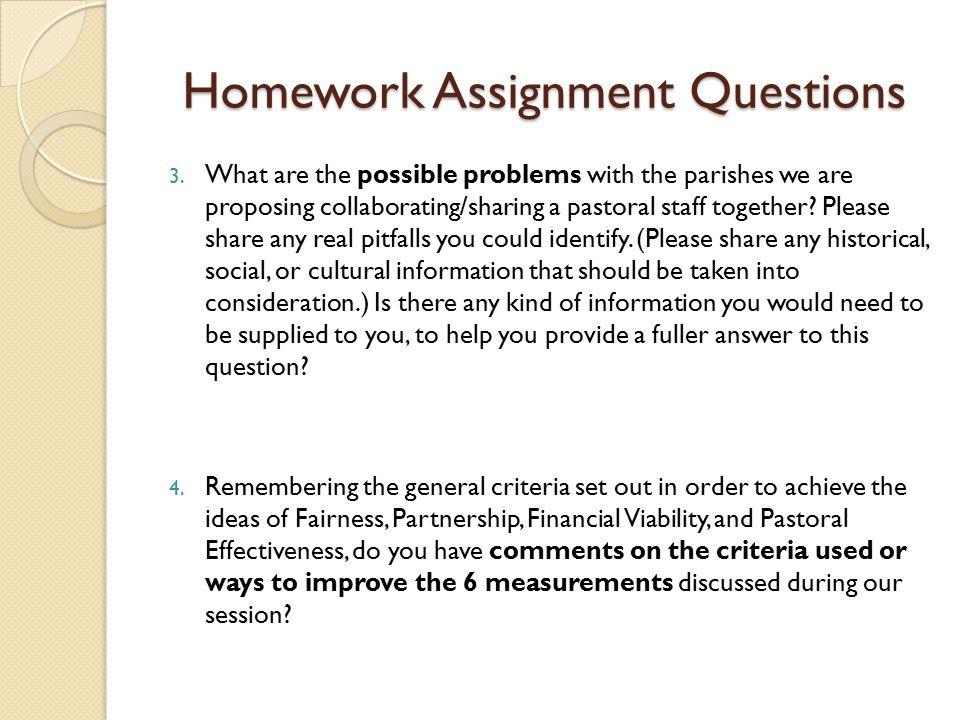 Homework Assignment Questions 3.