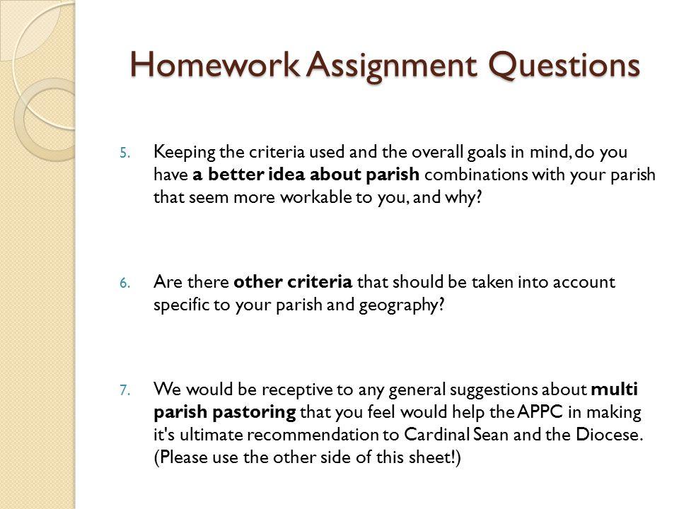 Homework Assignment Questions 5.