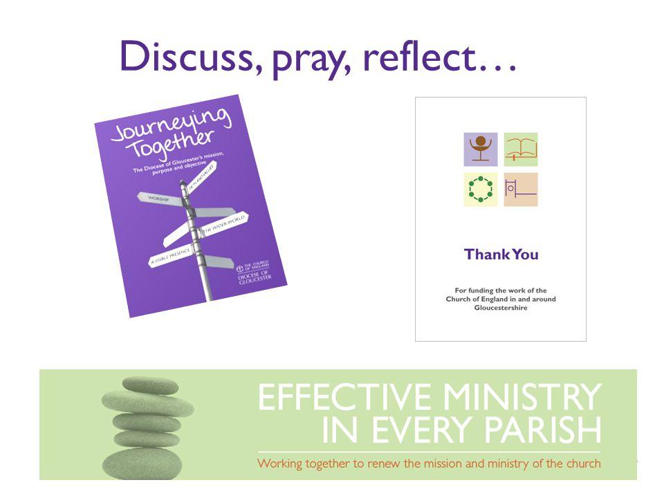 Discuss, pray, reflect…