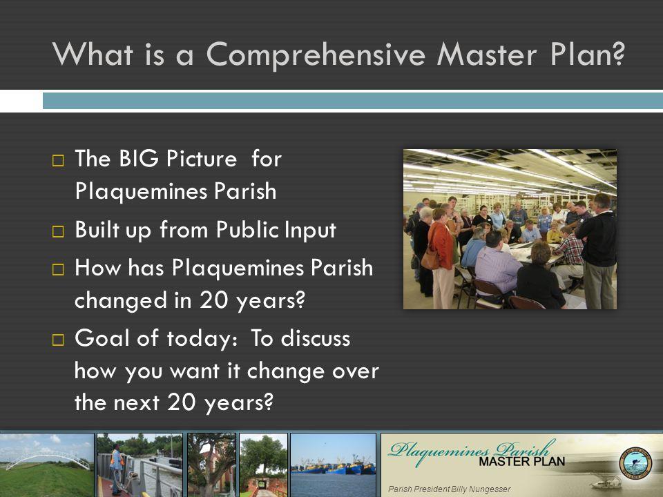 Parish President Billy Nungesser What is a Comprehensive Master Plan.