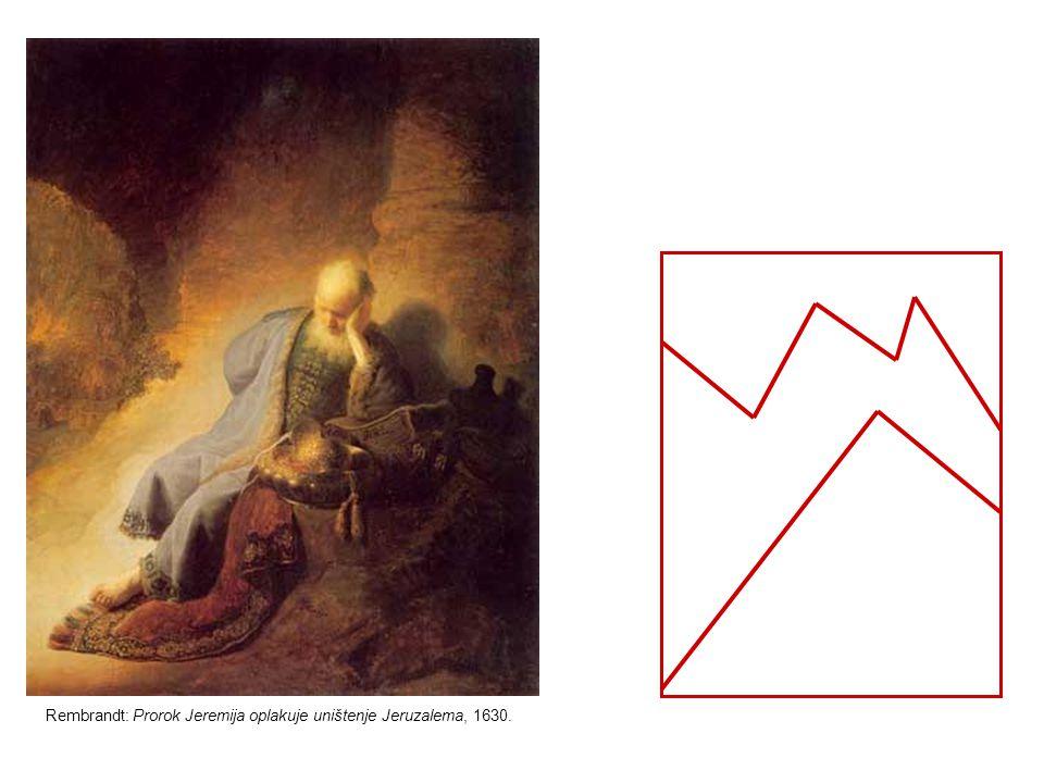 Rembrandt: Prorok Jeremija oplakuje uništenje Jeruzalema, 1630.