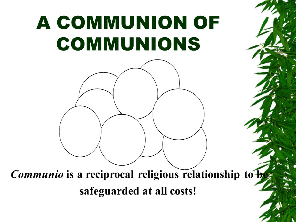 We Are All In This Together The Church is an event of communion, and that is why it cannot be realized as the achievement of an individual.