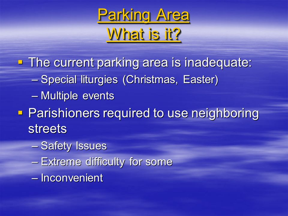 Parking Area What is it.