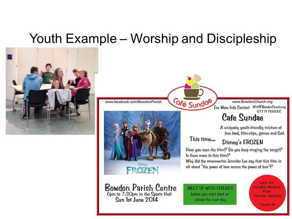 Youth Example – Worship and Discipleship