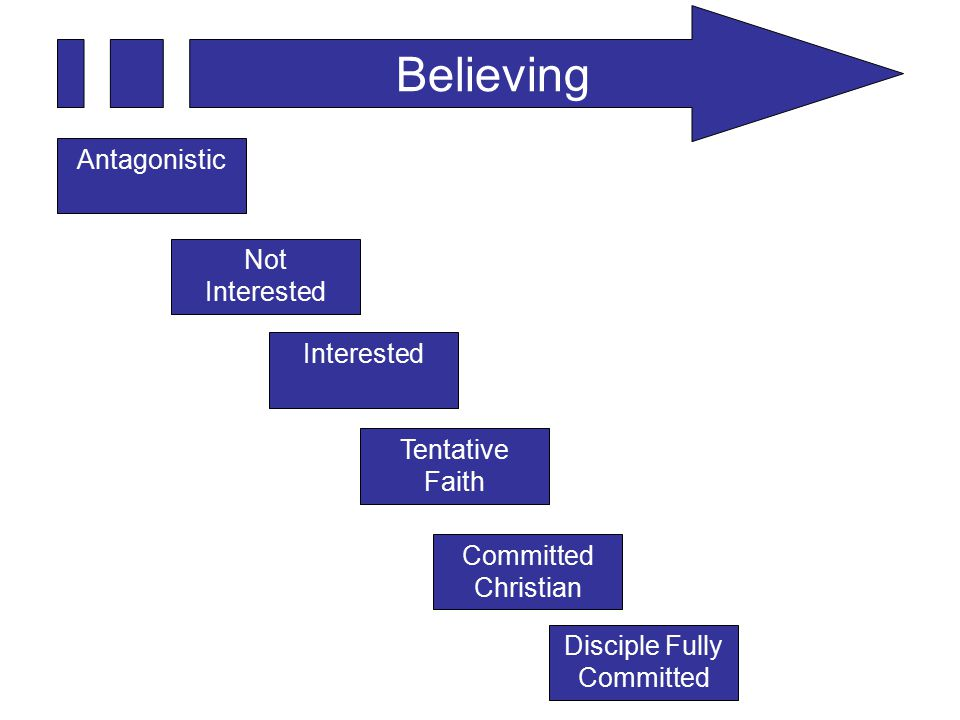 Believing Antagonistic Not Interested Tentative Faith Committed Christian Disciple Fully Committed