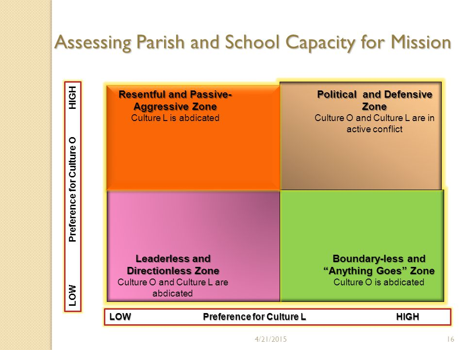 4/21/201516 Assessing Parish and School Capacity for Mission
