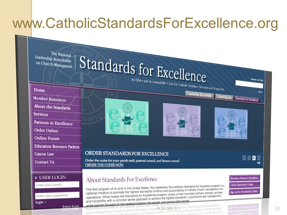 www.CatholicStandardsForExcellence.org 4/21/201532