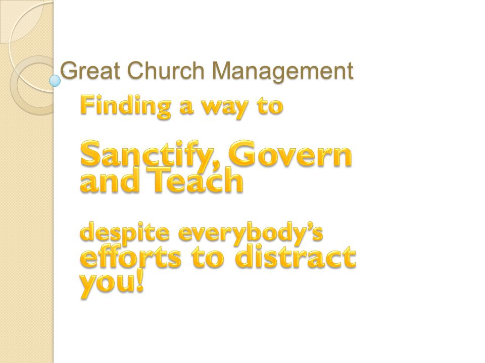 Great Church Management
