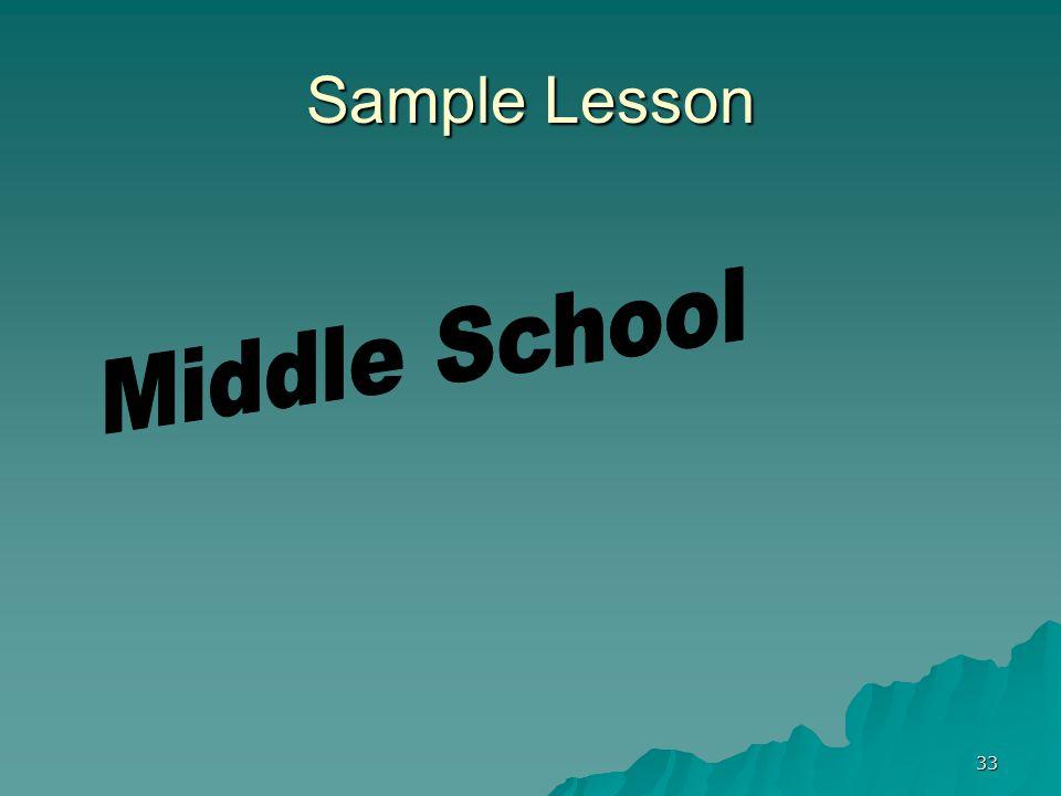 33 Sample Lesson