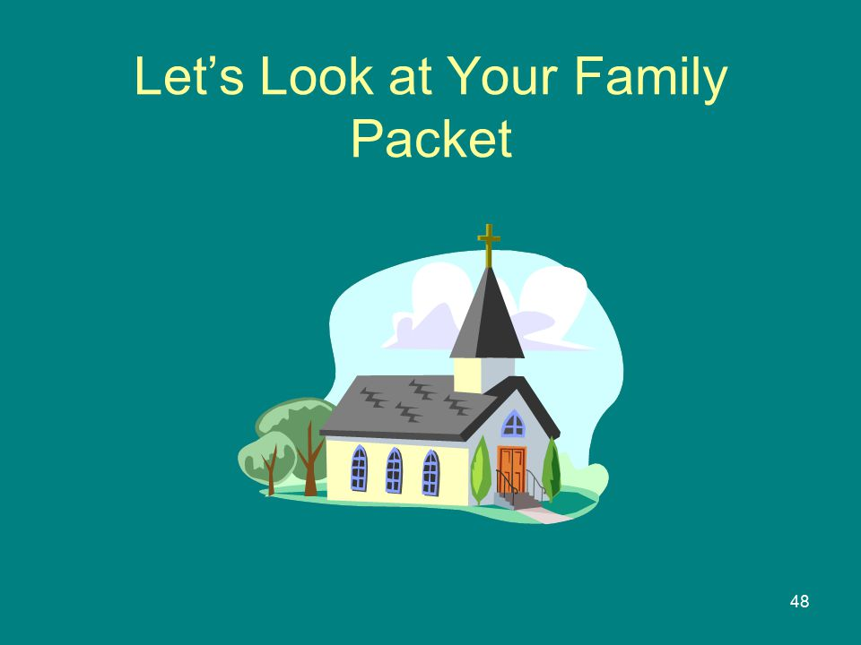48 Let's Look at Your Family Packet