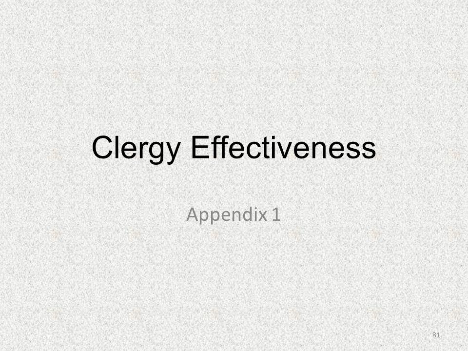 Clergy Effectiveness Appendix 1 81