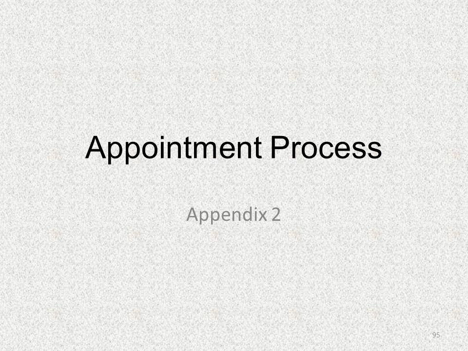Appointment Process Appendix 2 95