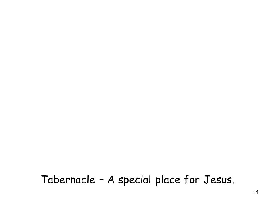 14 Tabernacle – A special place for Jesus.
