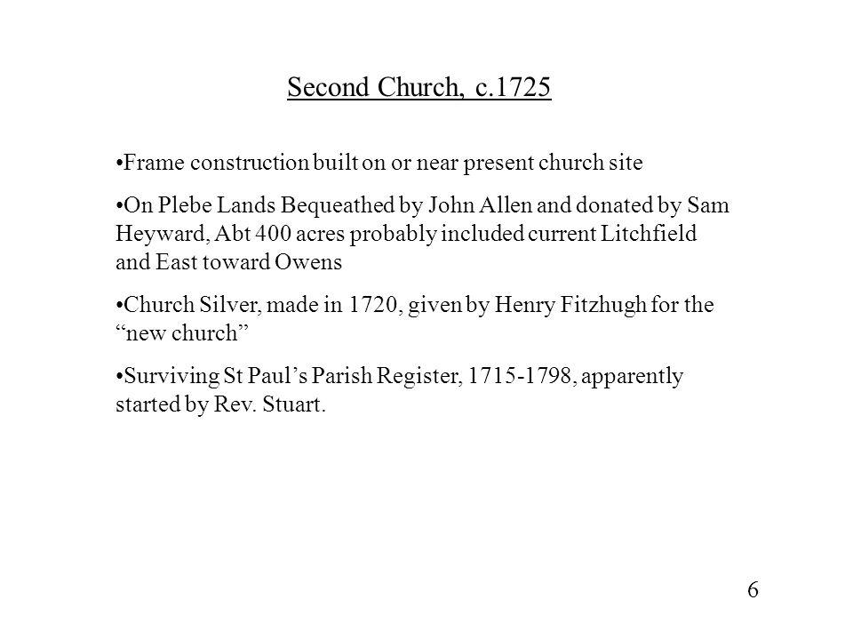 Third / Present Church, c.1768/70 Rev.