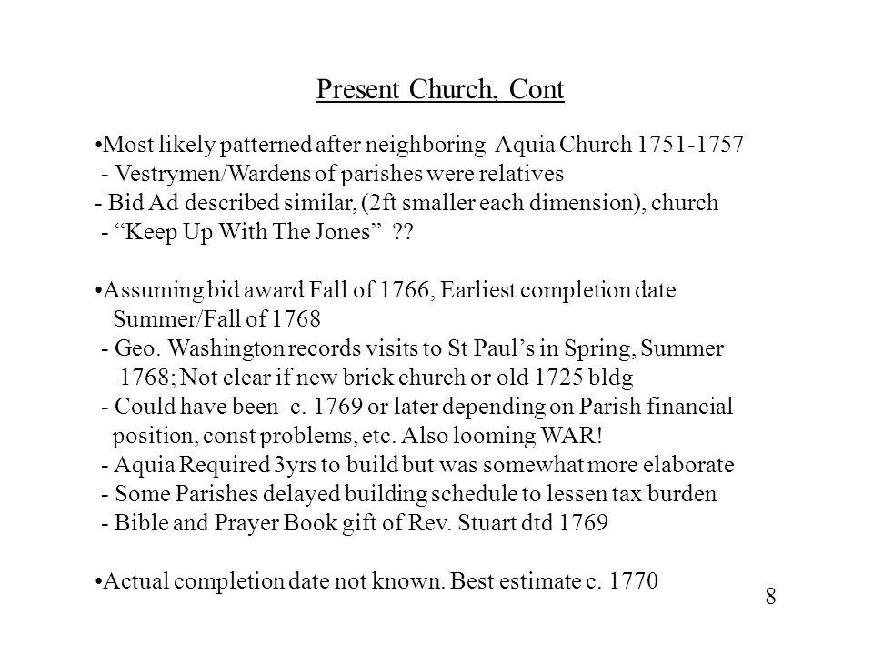 Aquia Church,St Paul's Sister Church 9