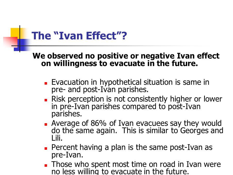 The Ivan Effect .