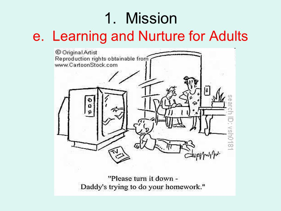 1. Mission e. Learning and Nurture for Adults