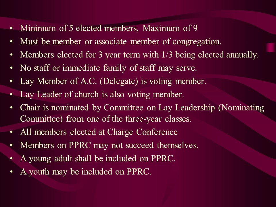 The Candidate Before a person is presented to the Charge Conference for vote of recommendation, he or she must be an official Exploring Candidate for ministry who… …has met with the District Superintendent, …been assigned to a Candidacy Mentor, an elder or deacon specially trained to encourage and assist, …is officially enrolled with the Division on Higher Education and Ministry, …and is meeting with the mentor assigned to further explore God's call and United Methodist ministry.