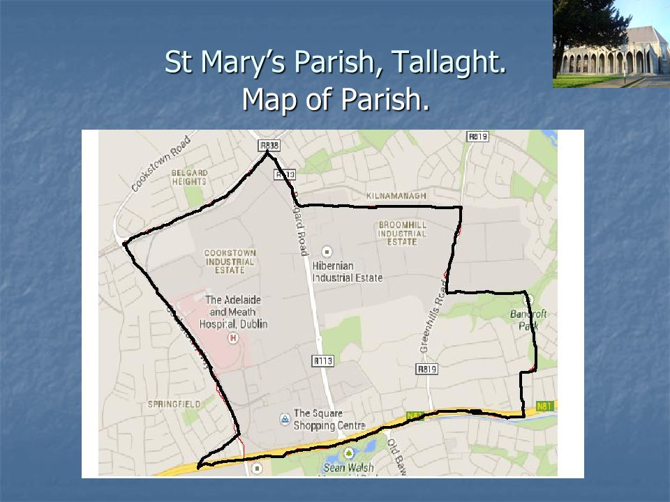 St Mary's Parish, Tallaght. Map of Deanery.