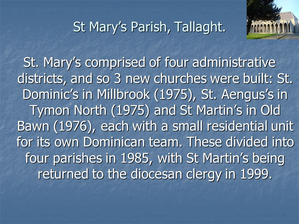 St Mary's Parish, Tallaght.