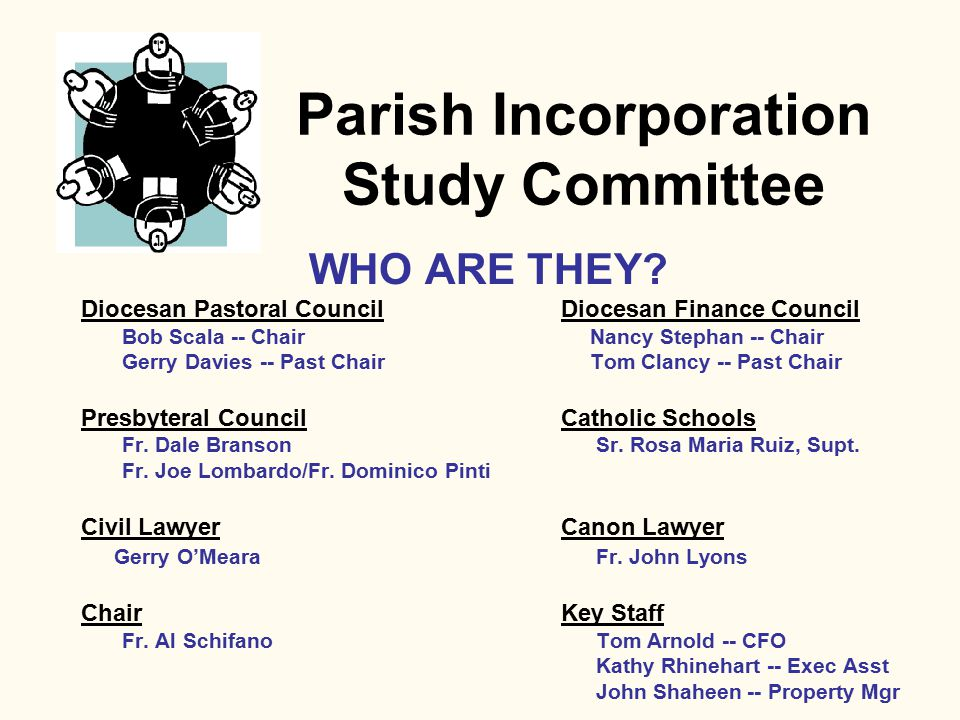 By-Laws P ARISH I NCORPORATION Article IX -- General Provisions * Mandatory Parish and Finance Councils * Vacancy in Office * Handling of funds * Proxy for Bishop and Mod.